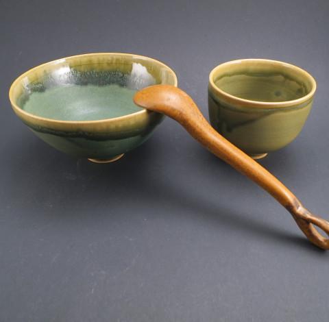 Teáscsészék zöldtea-ceremóniához - Károlyi Ildikó