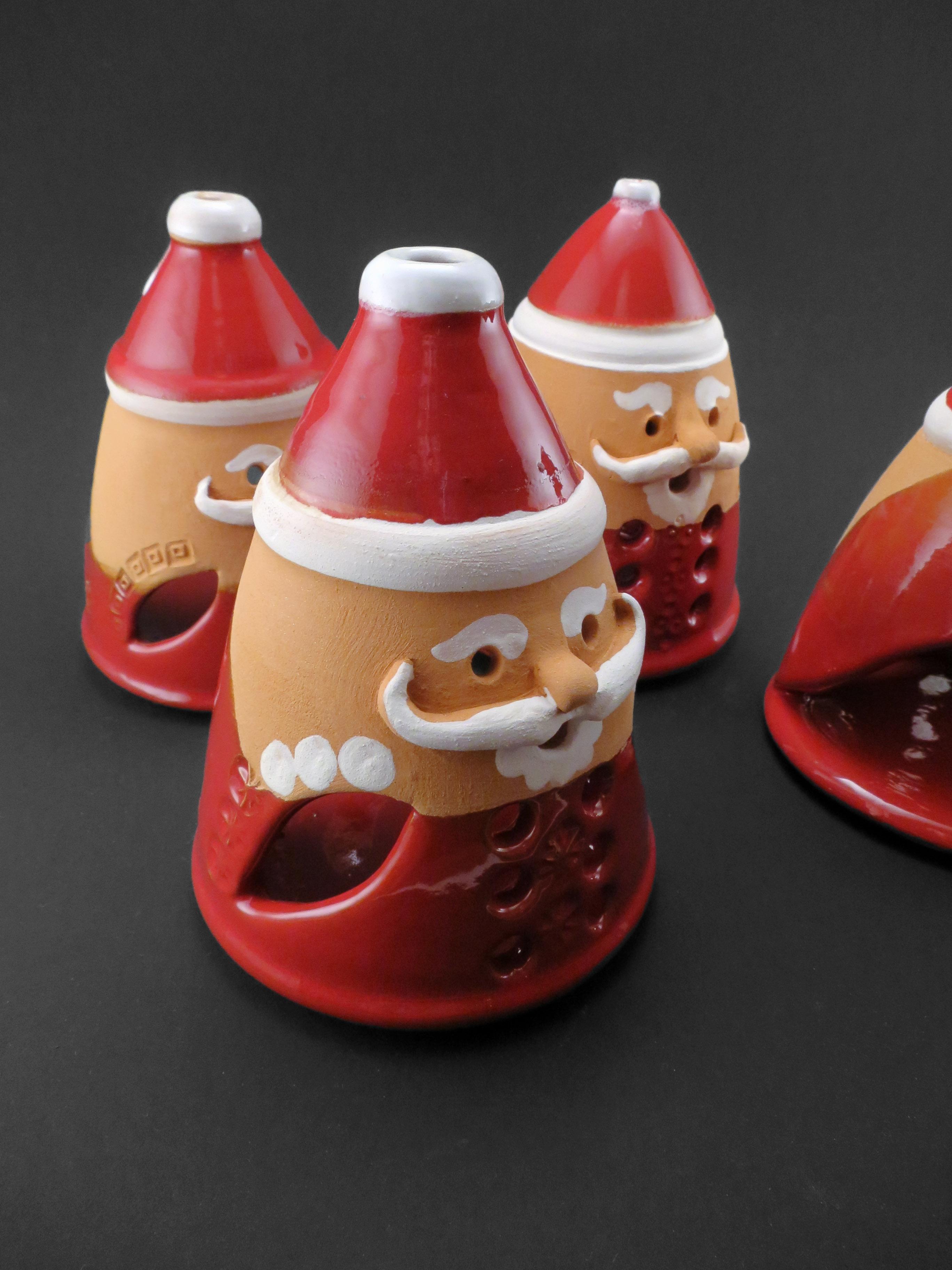 Santa Claus Tealight Holders - Ildikó Károlyi