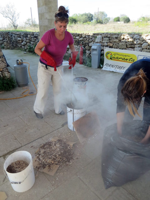 Reduction Phase - 1st International Ceramic Symposium in Salento and Raku Workshop