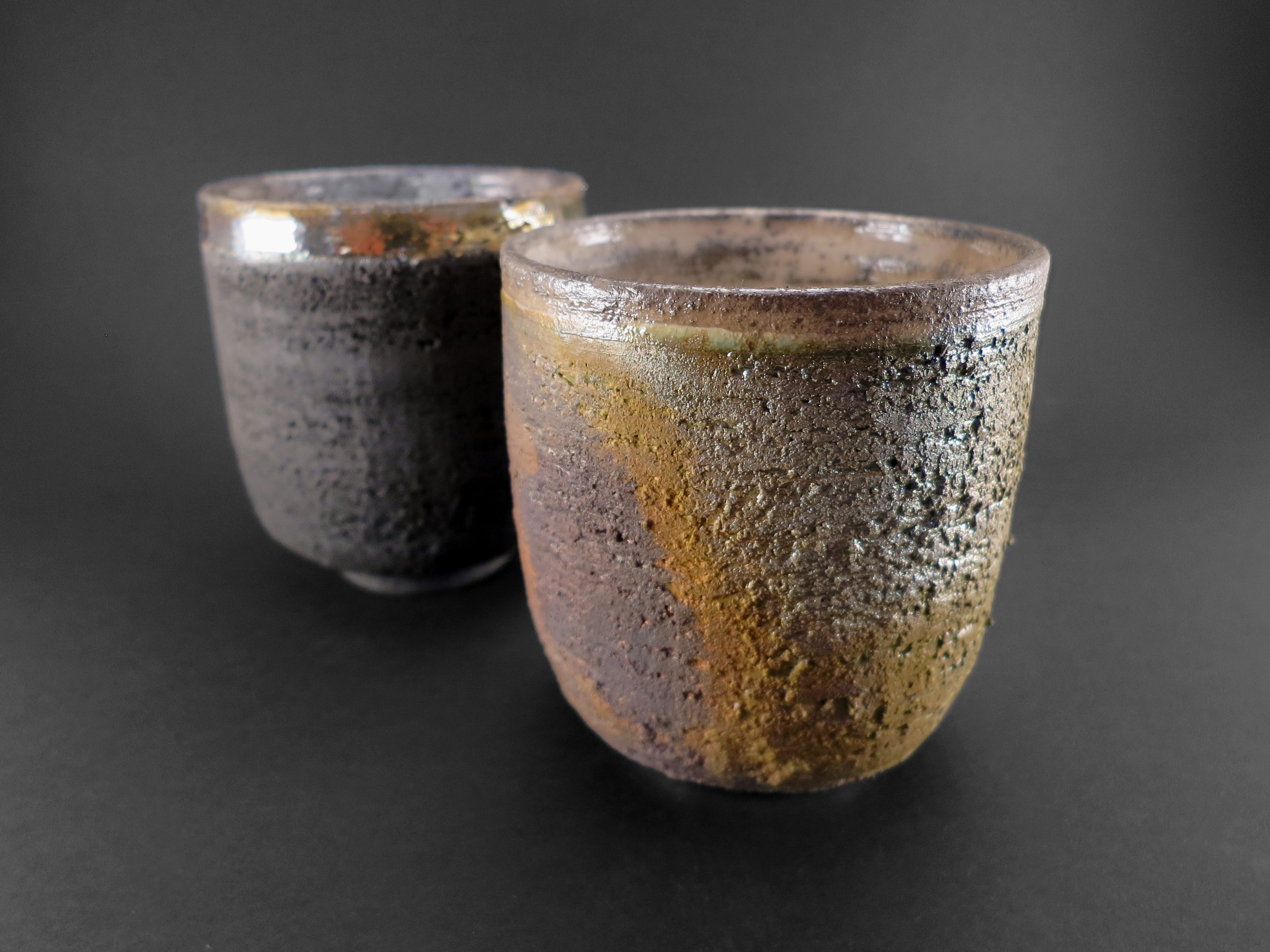 Carbon and Moss Cappuccino Cups - Ildikó Károlyi
