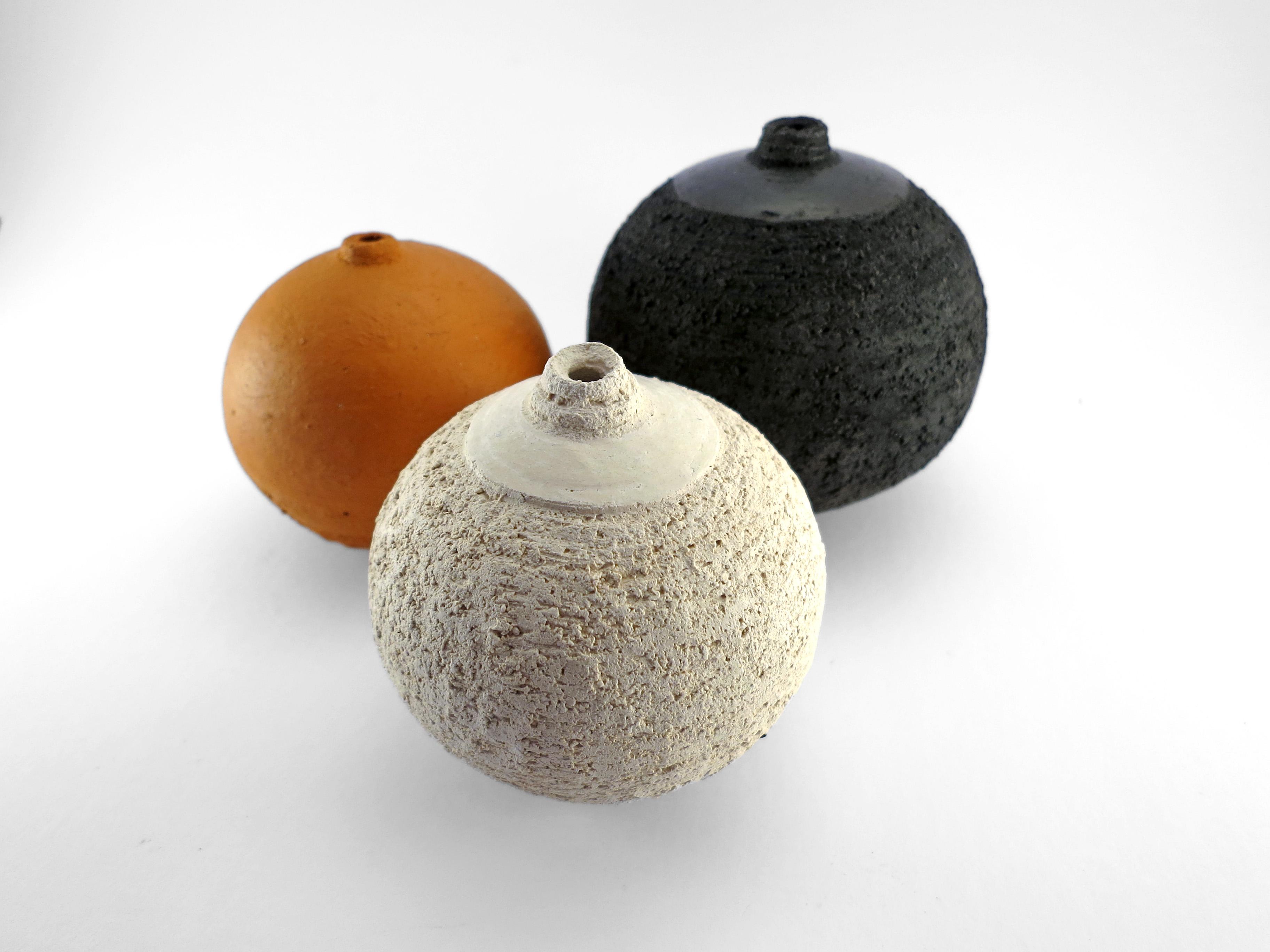 Whispering Globes from the Wild Clay Series - Ildikó Károlyi
