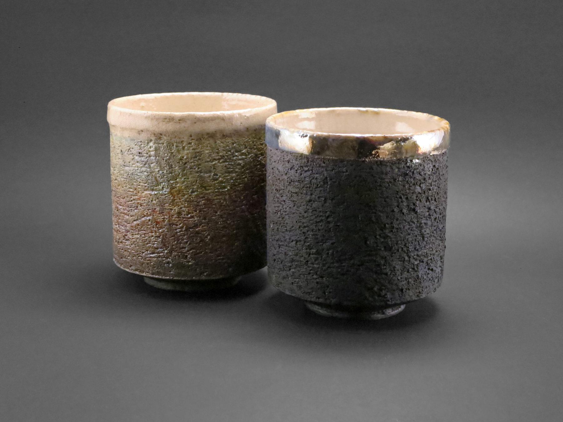 Moss and Carbon Cappuccino Cups - Ildikó Károlyi