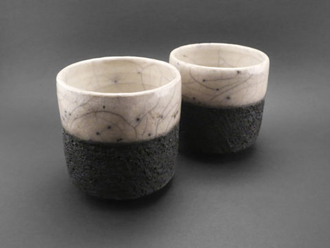 Black and White Cups - Ildikó Károlyi