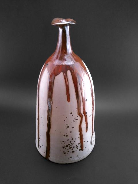 Karamell láva váza - Károlyi Ildikó