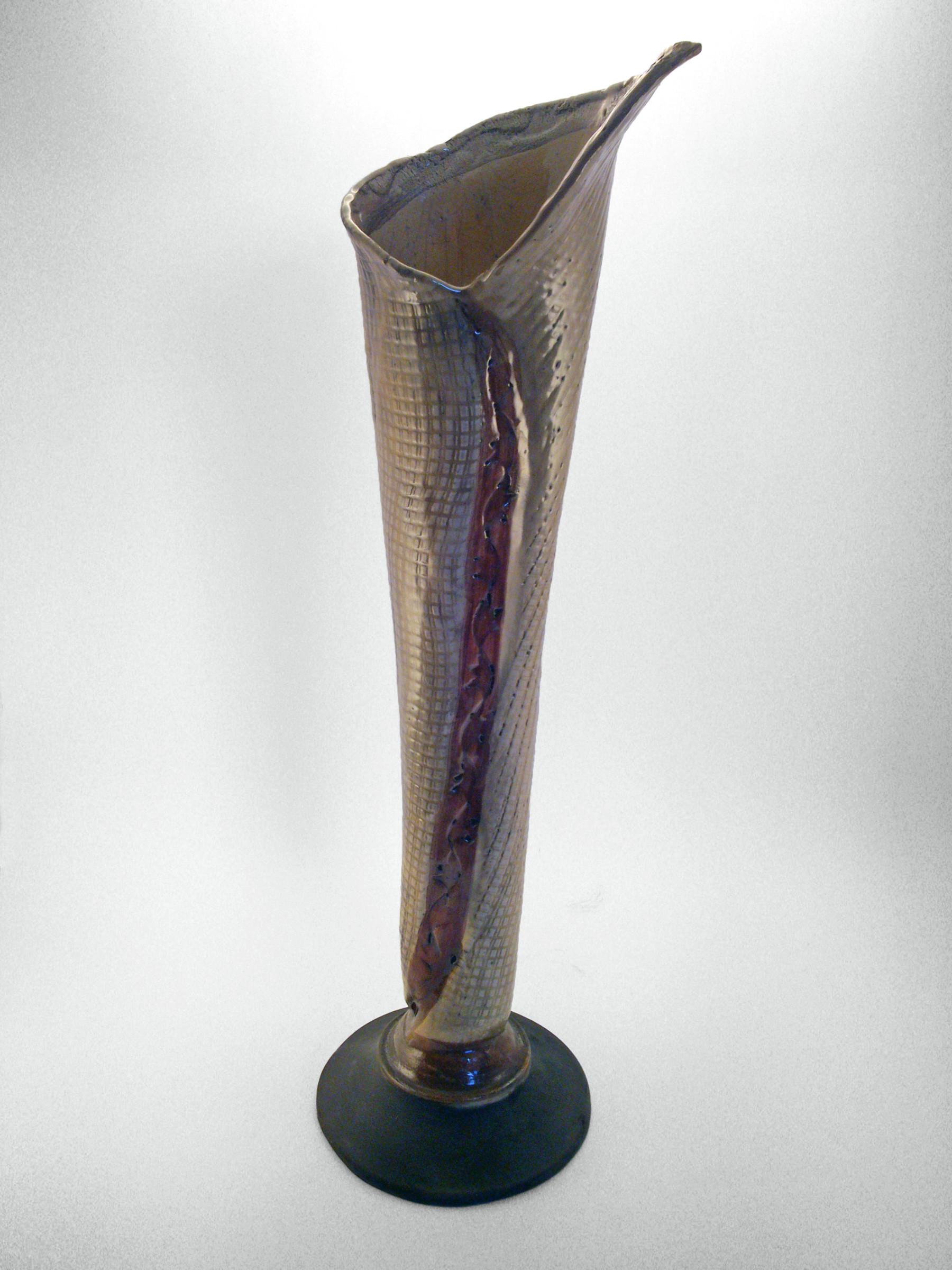 Ezüstleveles váza - Károlyi Ildikó