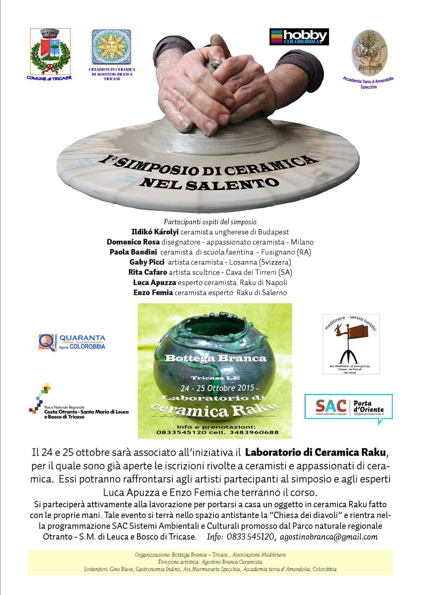 Official Poster - 1st International Ceramic Symposium in Salento and Raku Workshop