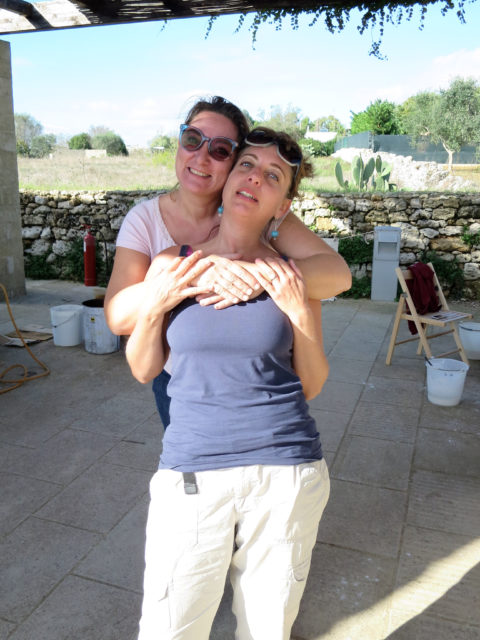 With Gaby Picci - 1st International Ceramic Symposium in Salento and Raku Workshop