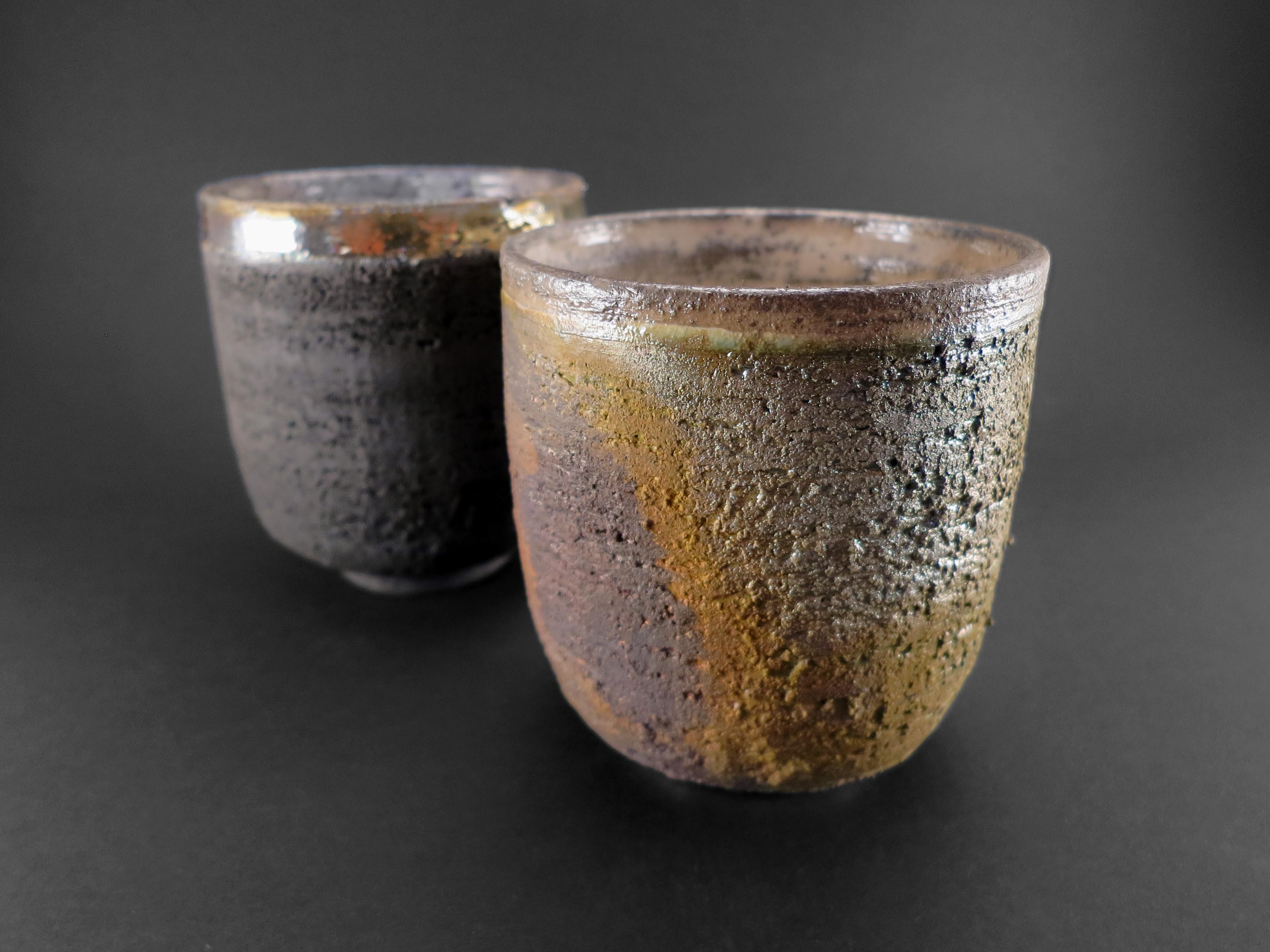 Carbon and Moss Cappuccino Cups - Ildikó Károlyi