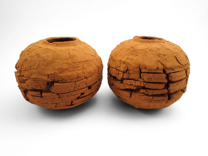 Scorched Earth: Whispering Globes from the Wild Clay Series - Ildikó Károlyi