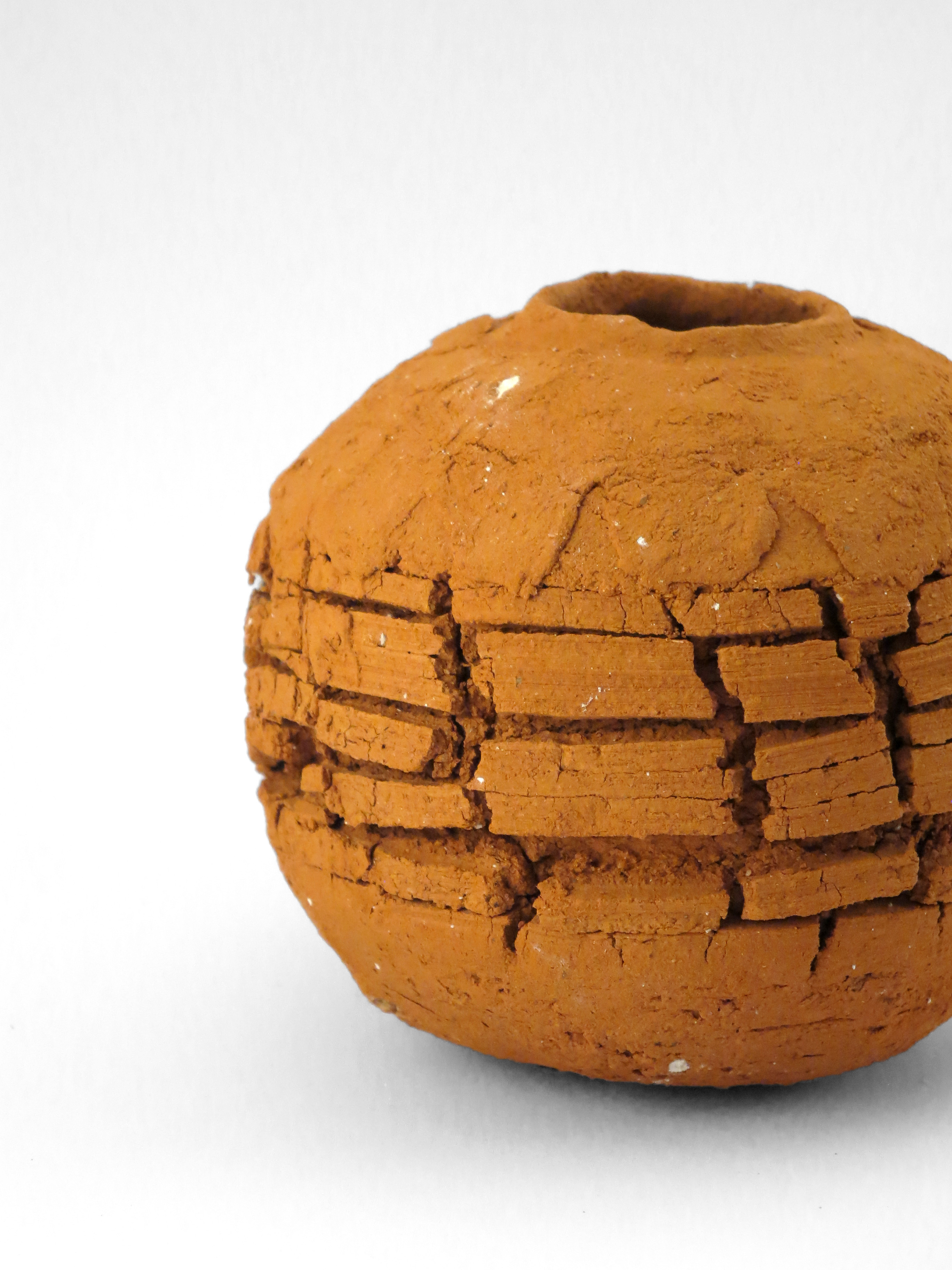 Scorched Earth: Whispering Globe from the Wild Clay Series (detail) - Ildikó Károlyi