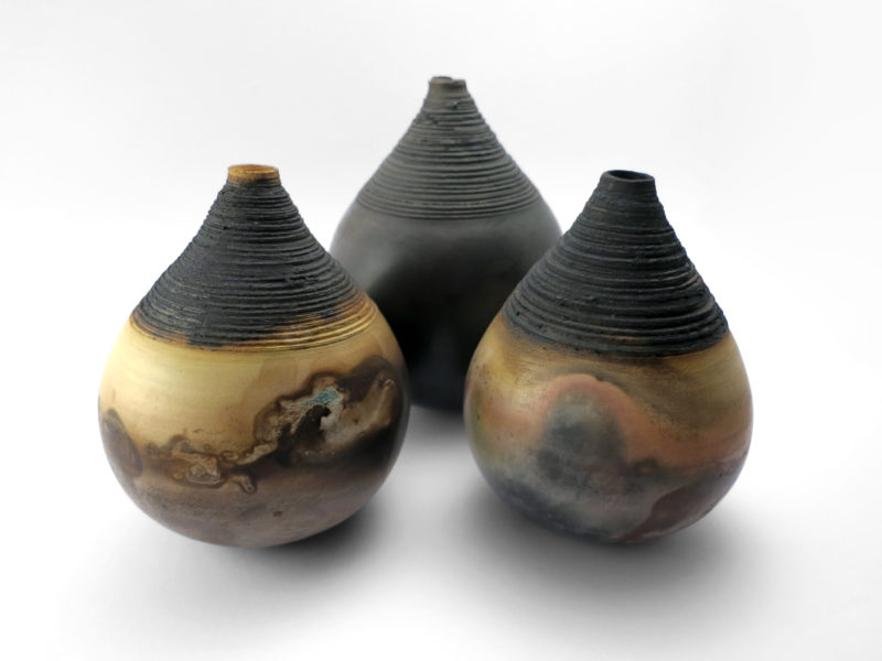 Saggar Whispering Globes from the Under the Surface Series - Ildikó Károlyi