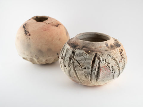"Pit-fired Vessels Made of the ""Blue"" Wild Clay - Ildikó Károlyi ceramics"
