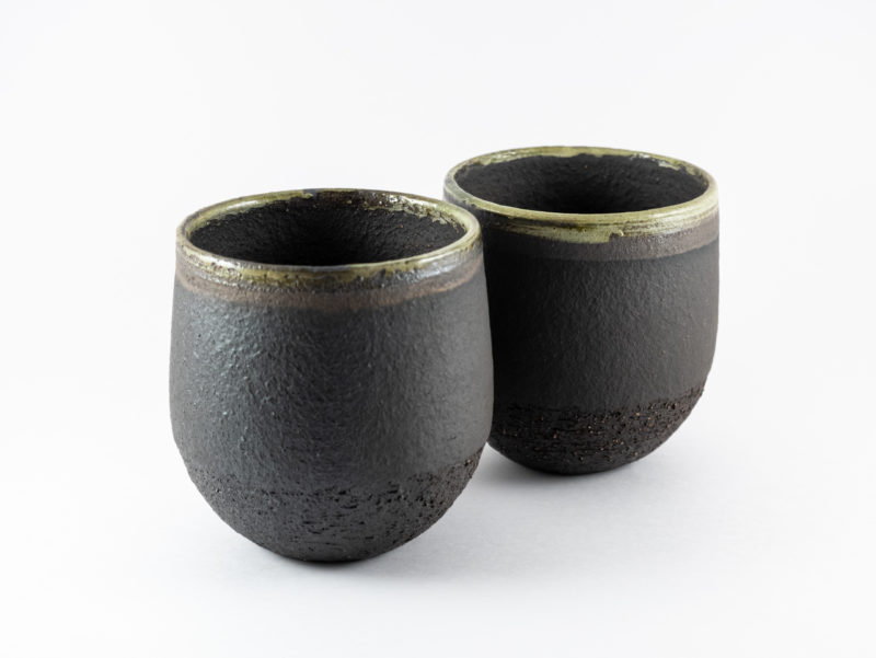 Stoneware Cups of the Terra: Cabo de Gata series - Ildikó Károlyi ceramics