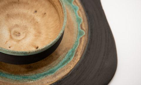 Neolithic-inspired Stoneware Ceramic Set - Ildikó Károlyi