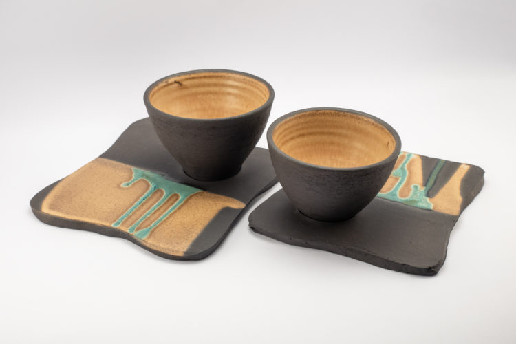 Cappuccino Cups from the Neolithic series - Ildikó Károlyi