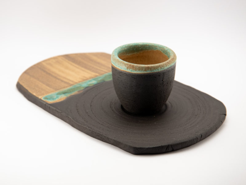 Espresso Cup with Plate from the Neolithic series - Ildikó Károlyi