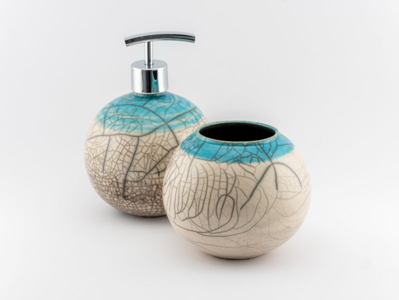Blue Collar Crackled Bathroom Set - Ildikó Károlyi
