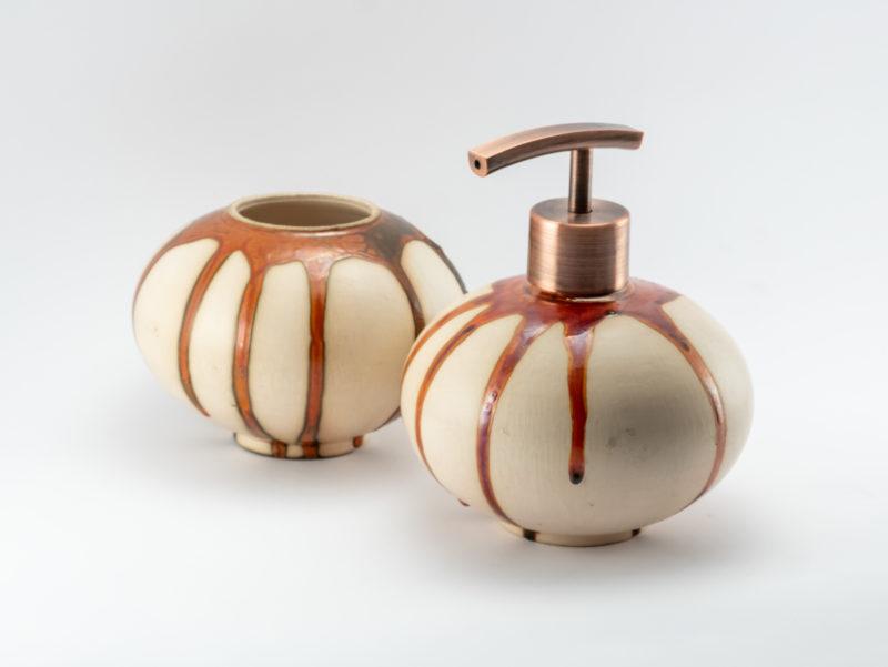 Caramel Lava Bathroom Set - Ildikó Károlyi