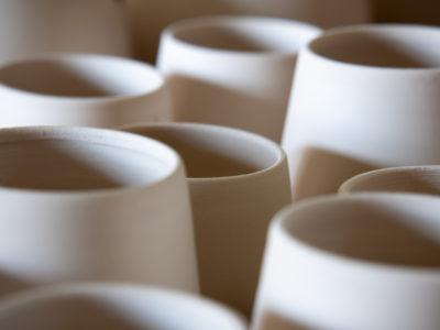 Ceramic Cups in Progress by Ildikó Károlyi