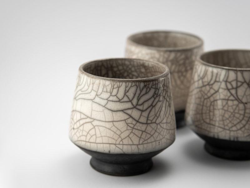 Raku Ceramic Dune Cups by Ildikó Károlyi
