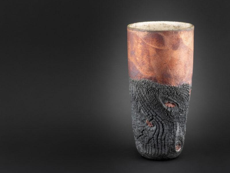 Olives of Salento: Raku Ceramic Vase - Ildikó Károlyi