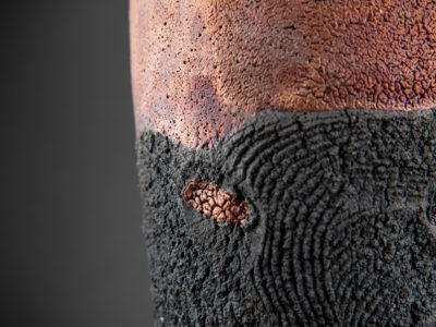 Olives of Salento: Raku Ceramic Vase - Ildikó Károlyi