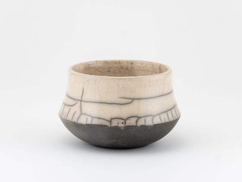 Round Raku Teacup - Ildikó Károlyi