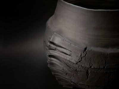 The Longest Night of the Year: Stoneware Vase close up - Ildikó Károlyi