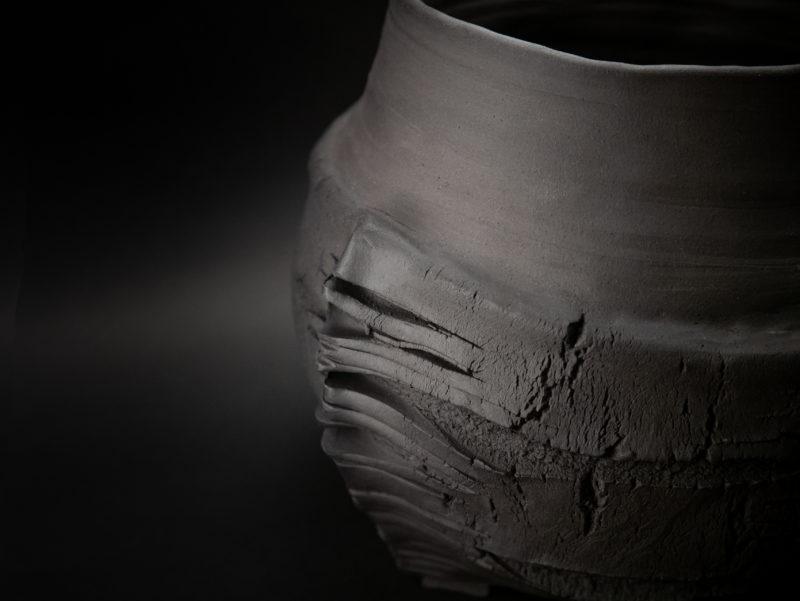 The Longest Night of the Year: Stoneware Vase close up - Ildikó Károlyi