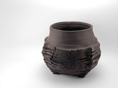 The Longest Night of the Year: Stoneware Vase - Ildikó Károlyi