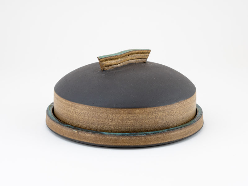 Ceramic butter dish from the Neolithic series by Ildikó Károlyi ceramics