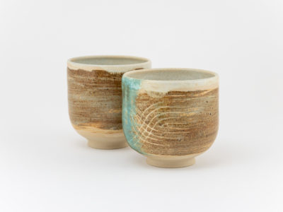 Cup Faces from the Danube series by Ildikó Károlyi ceramics