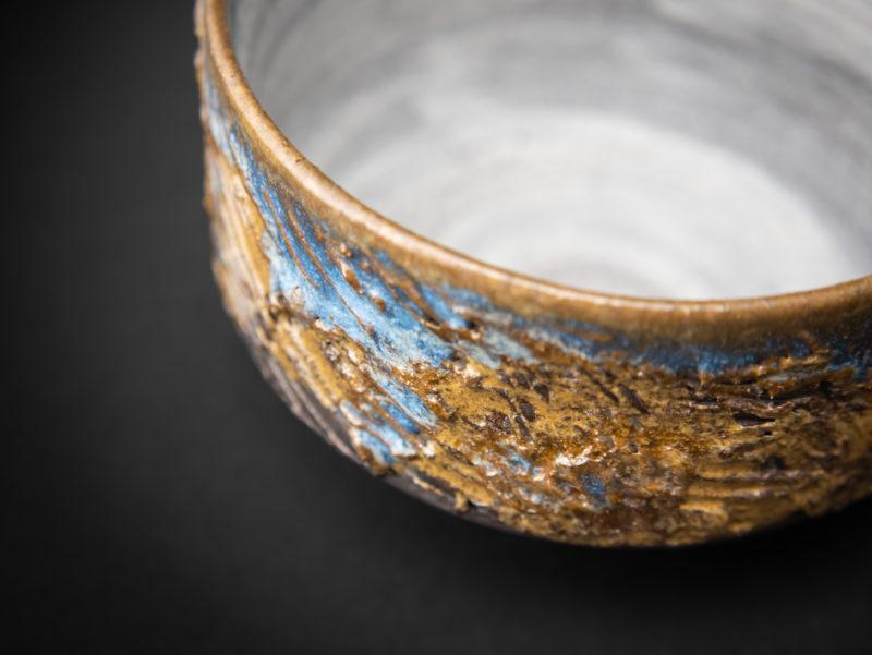 Harvest Chawan detail by Ildikó Károlyi ceramics