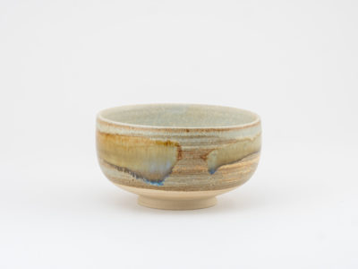Large Tea Bowl with Wild-clay Glaze by Ildikó Károlyi