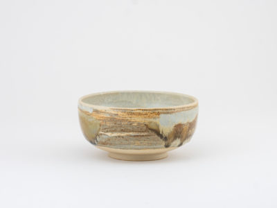 Small Tea Bowl with Wild-clay Glaze by Ildikó Károlyi