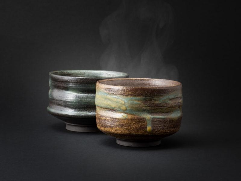 Stoneware Chawans: Ildikó Károlyi