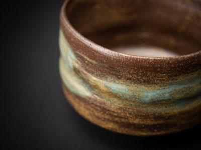 Wild-clay Glazed Chawan detail: Ildikó Károlyi