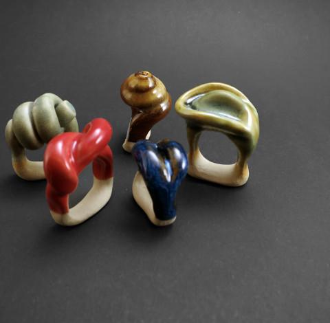 Pure Ceramics Rings - Ildikó Károlyi